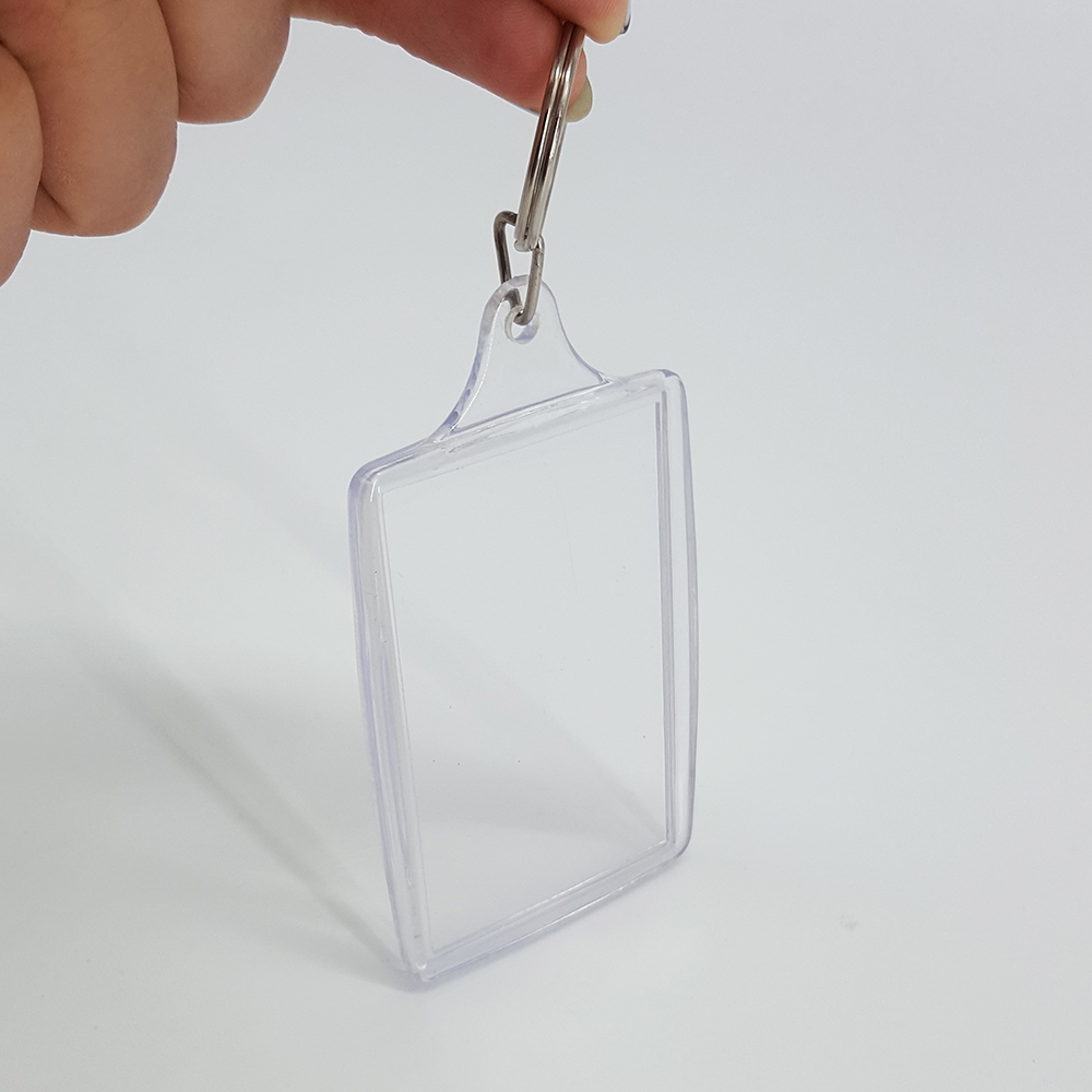 Give-away Gift Vacation Scenery Large Size Clear Keyring