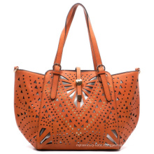 High Quality Fancy Laser PU Ladies Tote Handbag