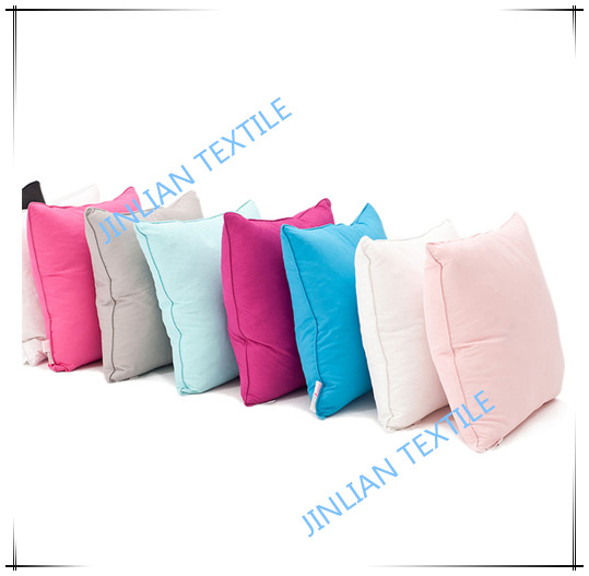Dyed color square pillow