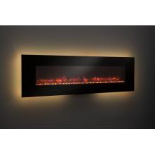 110-120V aquecedor de lareira de vidro preto clássico