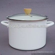 weiße Emaille hohe Suppe & Stock Pots weiße Emaille hohe Suppe & Stock Pots