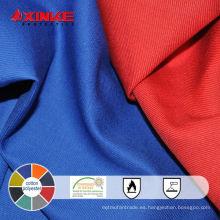 tela polivinílica ignífuga de la tela cruzada del algodón para el workwear