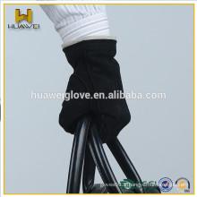Gant homme en coton à manches courtes en daim avec doublure en laine tricotée