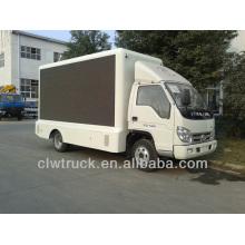 Suministro de fábrica Foton 4 * 2 camión etapa móvil para la venta, conducido camión