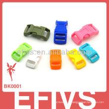 Pulseira Paracord fivela de liberação lateral colorida de plástico