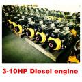 Motor diesel pequeno 3-10HP Portbale para uso em barco Promoção!