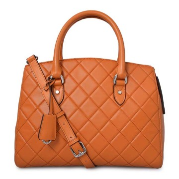 Cuadrados de cuero genuino Lady Fashion Tote Bolsos