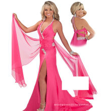 Halter Crossed Strap Party Dress with Rhinestones Pageant Dress for Beauty Pageant RO11-01