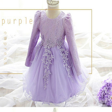 2017 New girls winter wedding dress Baby boutique clothing Girls Puffy Pink Long sleeves party dress 2017 New girls winter wedding dress Baby boutique clothing Girls Puffy Pink Long sleeves party dress