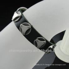 Bracelets en cuir véritable à chaud avec charme BGL-037