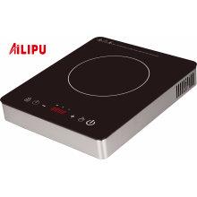 Fogão de indução elétrica de aço inoxidável 2500W do controle do toque do tipo de Ailipu