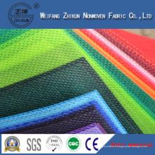 Tissu non-tissé de Spunbond de 100% pp pour des sacs d'achats / cadeaux