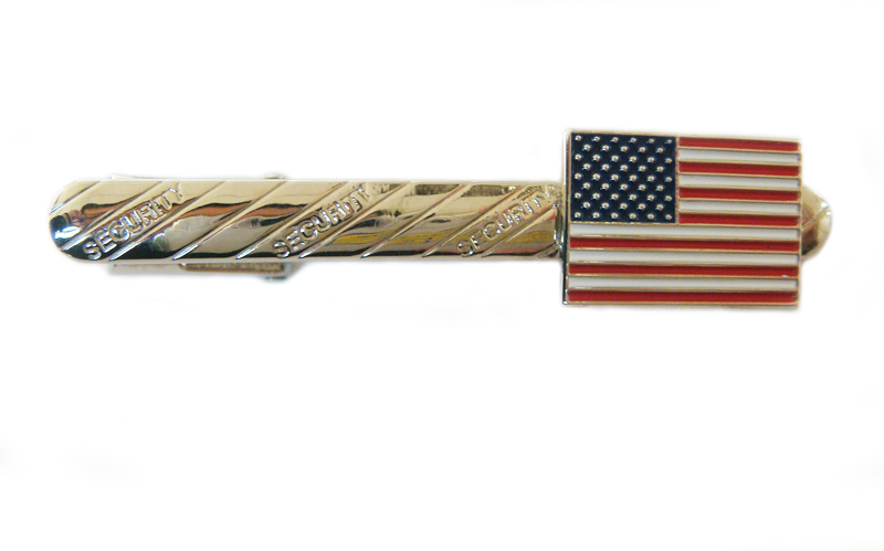 US flag tie bar