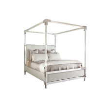 Acrylic Model Style Table For Bed Frame Room