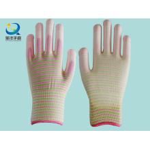 Защитные перчатки с полиэфиром 13G Zebra