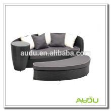 Audu Green Resin cama de mimbre al aire libre de mimbre impermeable