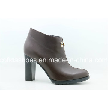 Newest Fashion Winter Leather Women′s Boots