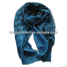 CC lady's printed cashmere scarf