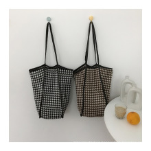 Wholesale Ins Fashion Low MOQ Lady Woolen Tote Bags shoulder Bag for Girls