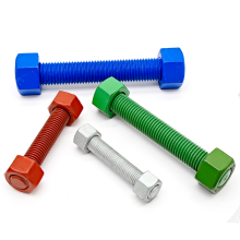 5/8 inch *100 mm Colorful PTFE Coating Carbon Steel Full Steel Thread Rod ASTM A193 Grade B7 B18.31.2 Nuts And Stud Bolt