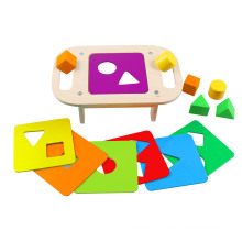 Wooden Shape Sorting Table Toy for Children and Kids