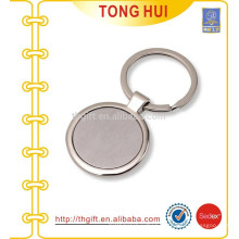 Custom Round shape Metal blank photo keychain