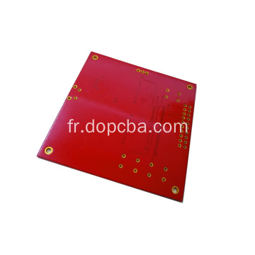 Carte PCB simple face ENIG de masque de soudure rouge