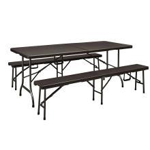 Rattan Design 6FT Folding in Half Table