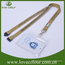 PVC waagerechter transparenter Kartenhalter mit Lanyards