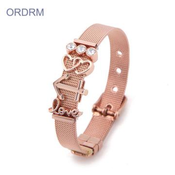 Bracelet en acier inoxydable pour la Saint-Valentin