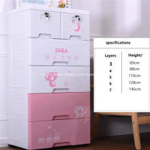 Baby Plastic Drawer Cabinet 5-tier Clothes Cabinets