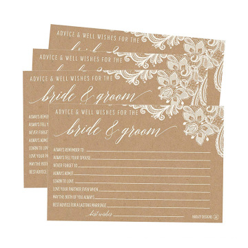 4X6 Spitze Antike Kraftpapier Hochzeitskarten Empfang Wünschen Gästebuch Alternative Hochzeit Kartendruck