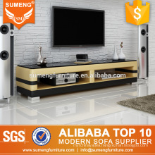 SUMENG yellow with black wooden TV Stand furniture with pictures