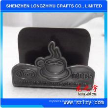 Caff Office Metal Business Card Holder Company Logo Custom Shape