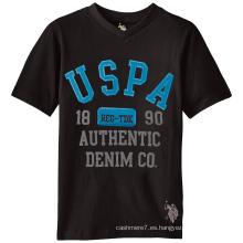 Camisetas impresas algodón del bordado de las camisetas de los hombres al por mayor