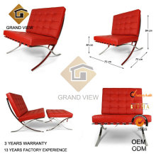 Chaise design cuir Barcelona visiteur (GV-BC01)