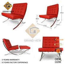 Projeto couro cadeira visitante de Barcelona (GV-BC01)