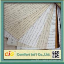 Película de la decoración de madera del grano del PVC para los gabinetes de