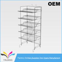 Tienda de suministro de 5 niveles de alta resistencia de visualización de precios de diseño de supermercado
