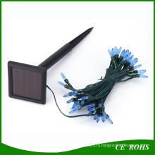 Синий свет сосульки 50 LED солнечный свет шнура для Рождественский фестиваль свадьба