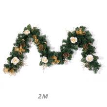 Christmas Plastic Decorative artificial bulk flower Garland Wreath Rattans