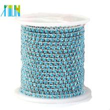 silver base crystal rhinestone connector chain for bikini