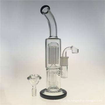Zwei Funktion Double Tree Perc Glasrohre zum Rauchen (ES-GB-394)