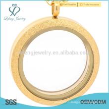 Самые продаваемые производители плавающих медальонов, медальон из матового магнитного стекла, медальоны из нержавеющей стали, золото
