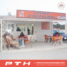 China Prefabricated Container House as Coffee Shop