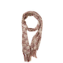 Женский вязаный длинный шарф с кисточками Space Dye