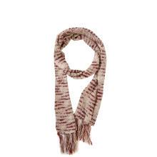 Bufanda larga tejida con borlas y tinte espacial para mujer