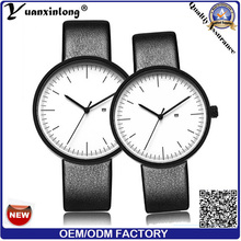 YXL-468 новой моды наручные часы Японии Movt кварца высокого качества кожаный ремешок пара смотреть мужчин женщин Vogue продвижение часы