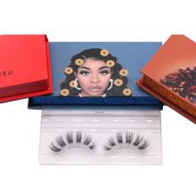 644T Hitomi eyelashes box packing custom private label 3d Mink Eyelashes paper eyelash packaging 3d real mink eyelash