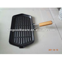 Cast Iron Grill with Folding Handle